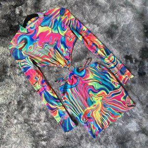 The Acid Dreams Psychedelic Mini Dress